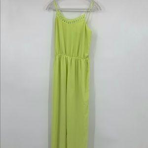 Arden B jumpsuit spaghetti strap green flowy large